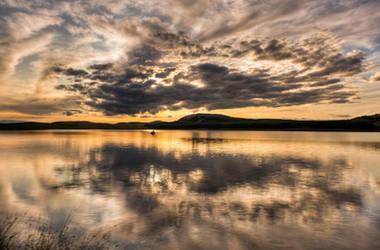 Sunset at wild horses lake 3 by Yupa