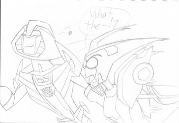 Blurr and Mirage by NinjaDP