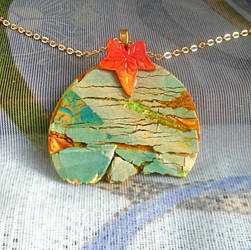 Autumnal Crackle Pendant. by aldcord