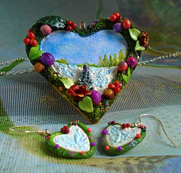Christmas Wreath Jewellery Set by aldcord
