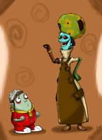 Psychonauts: Loboto and Doggen by EggmanFan91