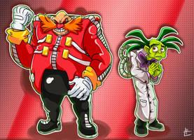 Sonic The Comic: Dr Robotnik and Grimer by EggmanFan91