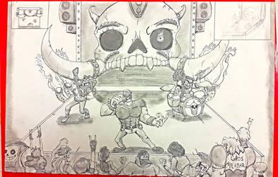 Metal Concert ( Perspective work ) by EggmanFan91