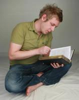 Aaron Reading II by IQuitCountingStock
