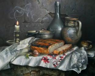 Still life with bread by AwaaraC