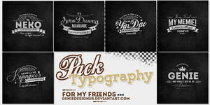 20140713. Pack Typography for my Lovers by GenieDyo