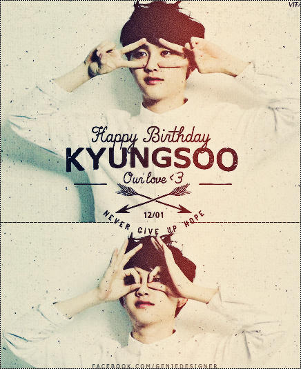 Typography - Happy Birthday Kyungsoo #2 by GenieDyo