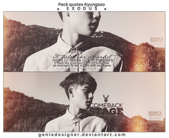Pack Quotes Kyungsoo - EXODUS. by GenieDyo