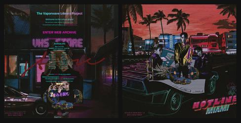EXO VAPORWAVE EDITS 'Hotline Miami' fr.GENIEDYO by GenieDyo