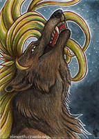 ACEO: Drakhenliche by Eleweth