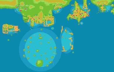 Pokemon World Map by moonlight-entity