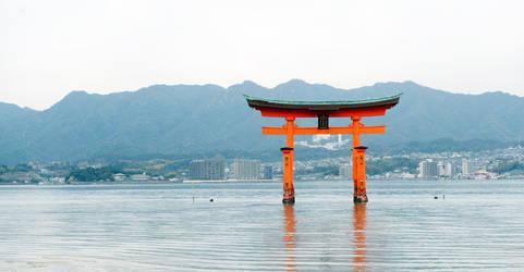 Miyajima Torii gate by heeeeman