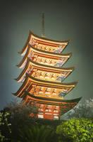 Miyajima Pagoda by heeeeman