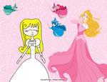 Kilala And Princess Aurora by Mileymouse101