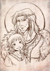 Father and son by Rachaella