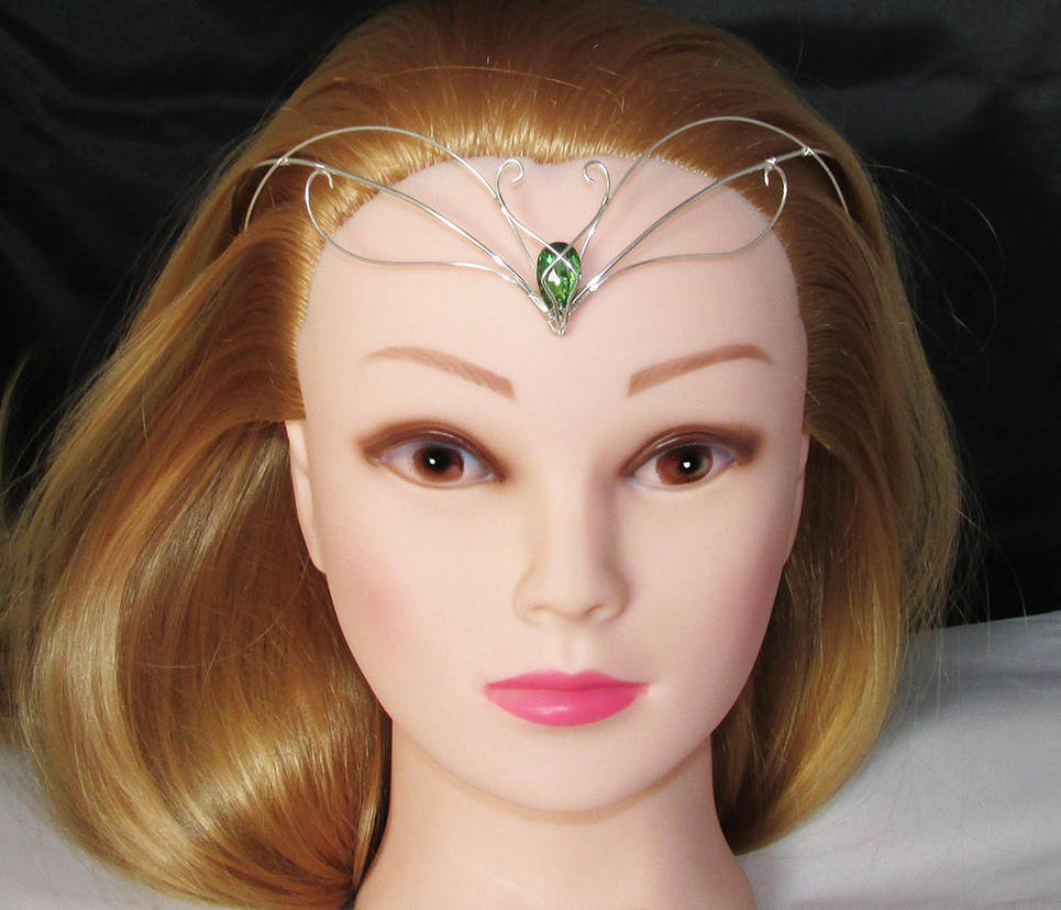 Green and Silver tiara by Lyriel-MoonShadow