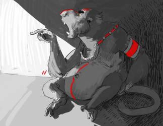 Monkey elder by ohmygiddyaunt