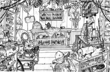 aquapolis bg: prawn shop by Ethereal-Mind