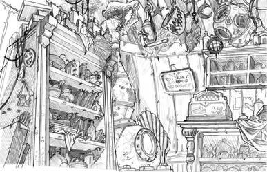 aquapolis bg: prawn shop2 by Ethereal-Mind