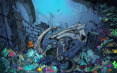 aquapolis bg: outside city by Ethereal-Mind