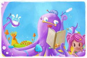 Octopus and Mermaid by Aaron-Randy