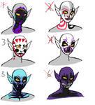 troll facepaint adoptables 2 by MountAndDewMe