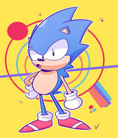 Sonic The Edgehog by TheBlackDude