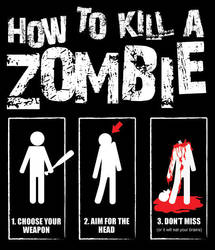 How To Kill a Zombie T-Shirt by Micha81