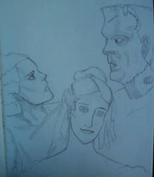 Mary Shelley, The Bride and the Monster (WIP) by kai-sam