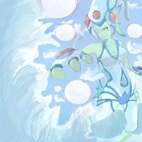 Ranamon Water Diva  (forHotofthesketchbook) by Imago-IC