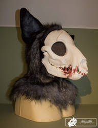 Skull fursuit head - commission by HellCharm