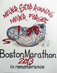 Boston Marathon by BenFrazier