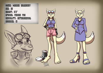 Marion Bradbury Ref Sheet by Thunder-Bolt