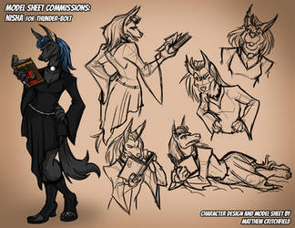 Character Model Sheet: Nisha by Thunder-Bolt