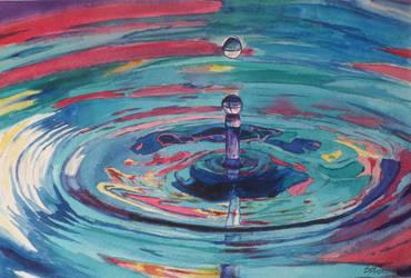 Watercolor Drop#1 by DEstebanez