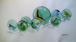 Watercolor Marbles #8 by DEstebanez