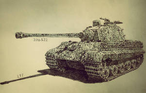 King Tiger Tank by lhlclllx97