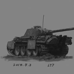 Pz V paint practice by lhlclllx97