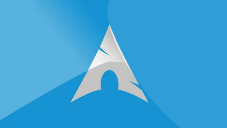 Arch Linux Wallpaper - Light Blue [WHITE LOGO] by NerdofRage