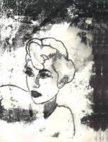 Vaudeville Monoprint by plastik-star