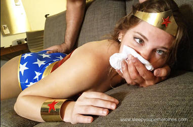 Wonder Woman in Trouble by sleepy-superheroines