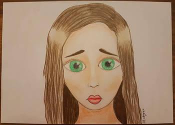 Sad face by aangieart