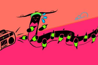 Aerobics Worm by brea83