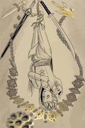Erik as the Hanged Man by brea83