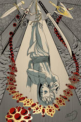 [reworked] Erik as the Hanged Man by brea83