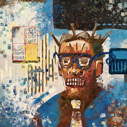 Self Portrait - inspired by Jean-Michel Basquiat by Smoozles