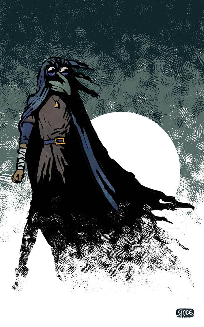 Crow-Girl - Keeping Watch by Smoozles
