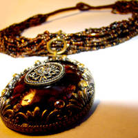 Tribal Dancer Pendant Necklace by SteamSociety