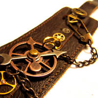Time Travelers Bondage Cuff by SteamSociety