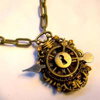 Sunshine Steampunk Necklace V2 by SteamSociety